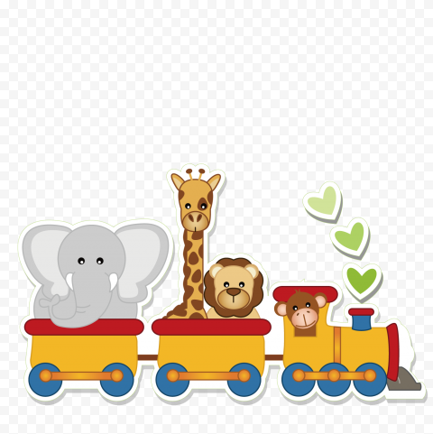 Kids Toys Animals Train Cartoon