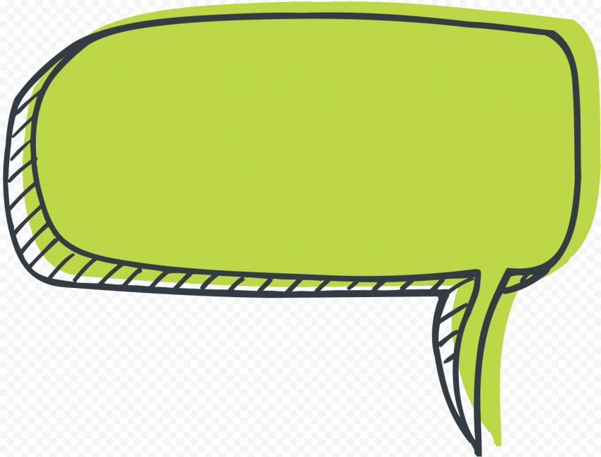 Light Green Drawing Speech Bubble Cartoon