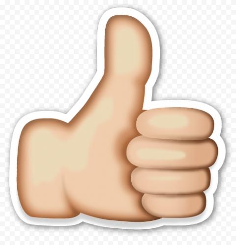 Like Emoji Thumbs Up Light Skin Tone