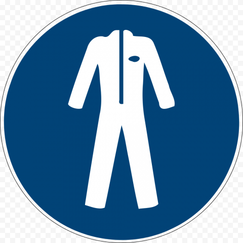 Long Chemical Coat Safety Lab Risk Sign