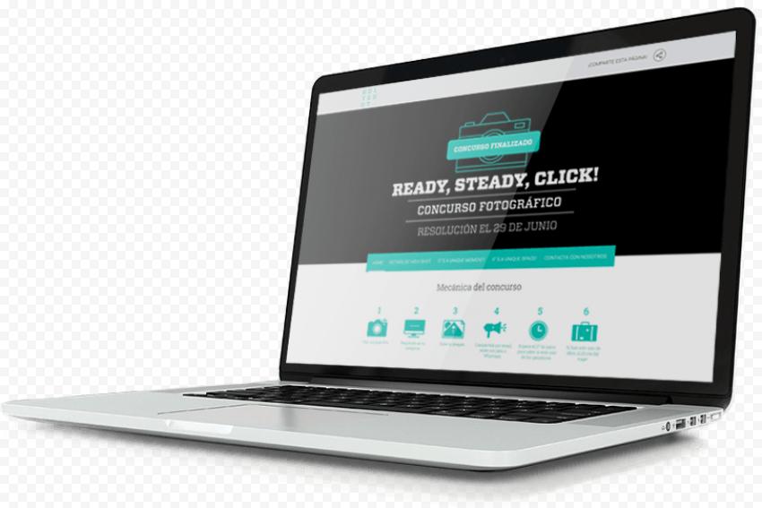 MacBook Pro Laptop Display Website Mockup