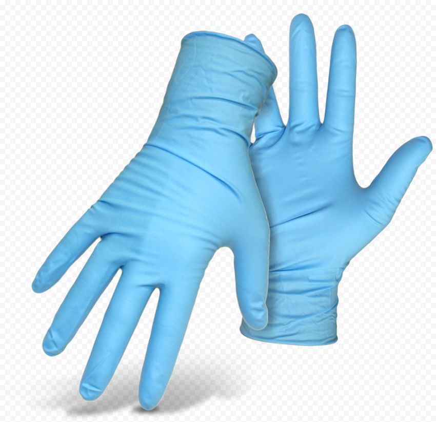 Medical Pair Of Gloves Surgical Blue