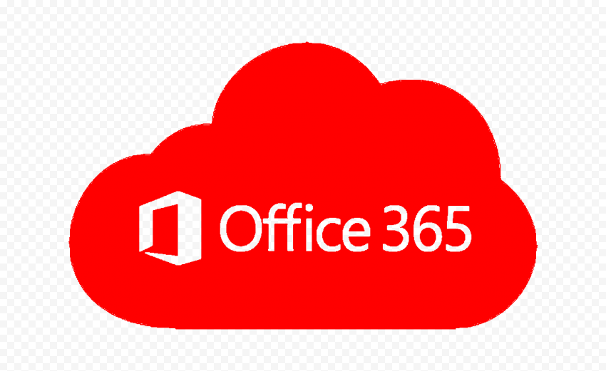 Microsoft Office 365 Cloud Red Icon