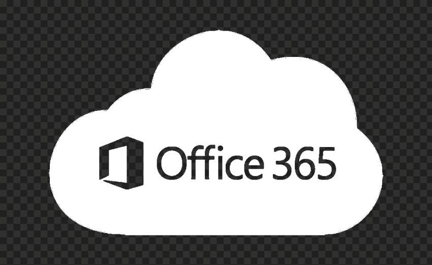 Microsoft Office 365 Cloud White Icon Transparent PNG