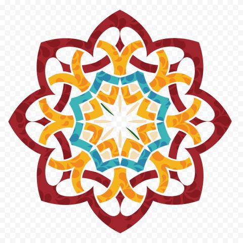 Modern Geometric Islamic Arabic Pattern Shape