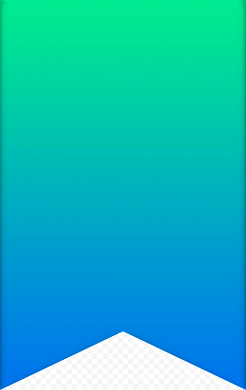 Modern ribbon gradient green to blue png