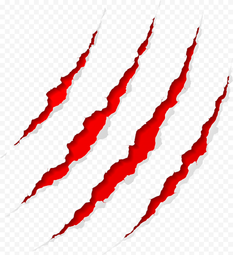 Monster Claw Scratch Red Illustration Vector