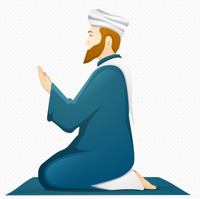 Muslim Man Pray Icon Islamic Praying Ramadan