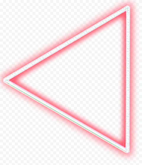 Neon Red Triangle Arrow Point To The Left