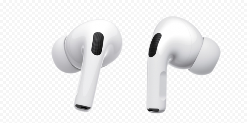 New White Apple Airpods Pro Transparent Background