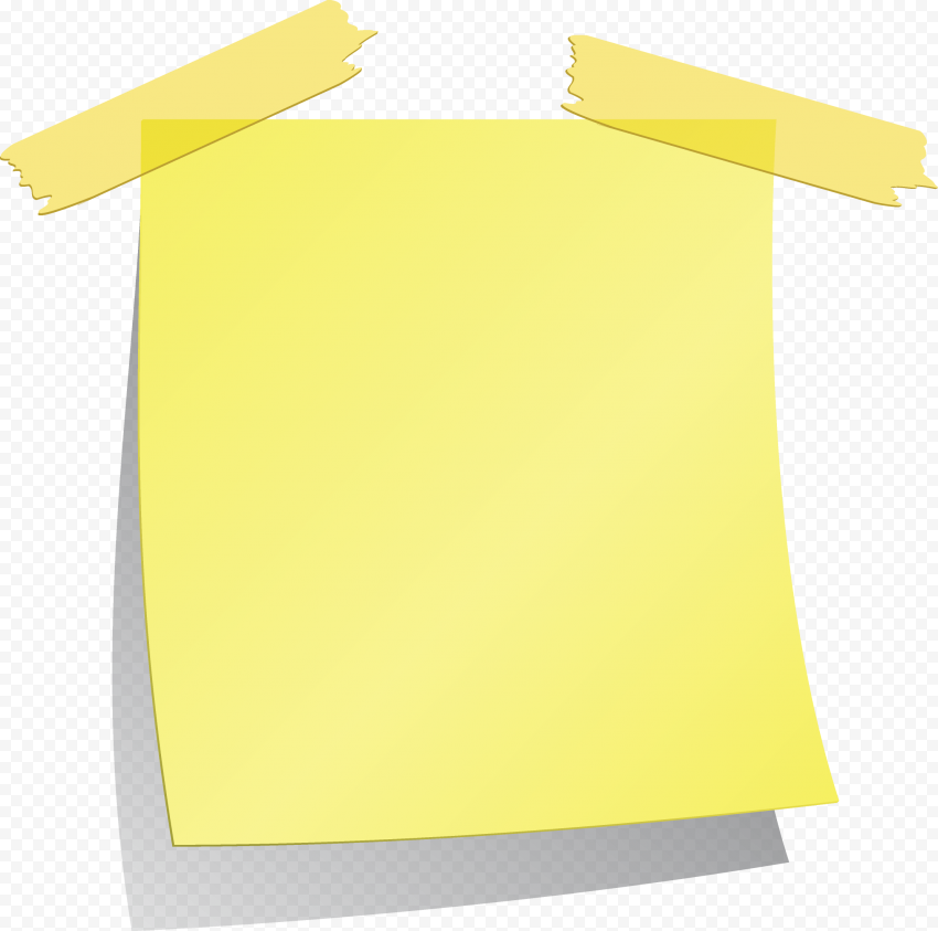 Note Tape Paper Light Yellow Notepad Blank
