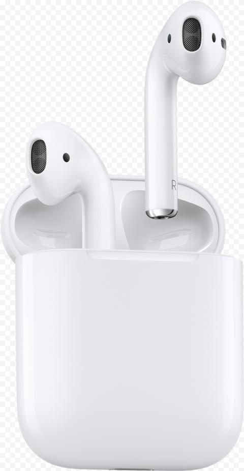 Opened Apple Airpods Original Case Transparent