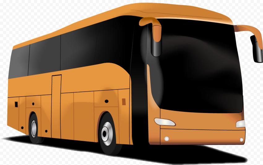 Orange bus illustration