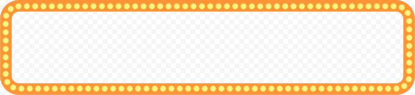 Orange Glowing Bulbs Frame PNG