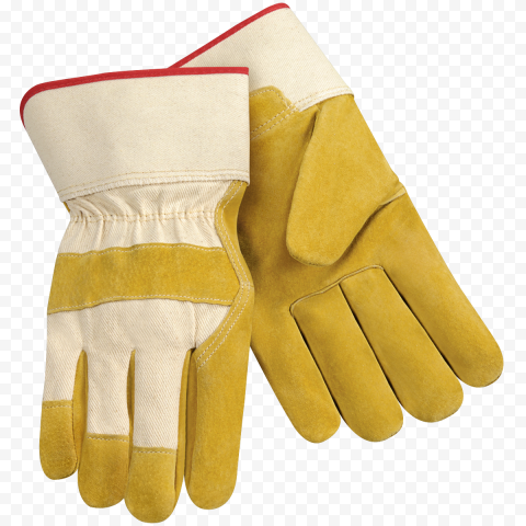Pair Gloves Safety Leather Protection Firefighter