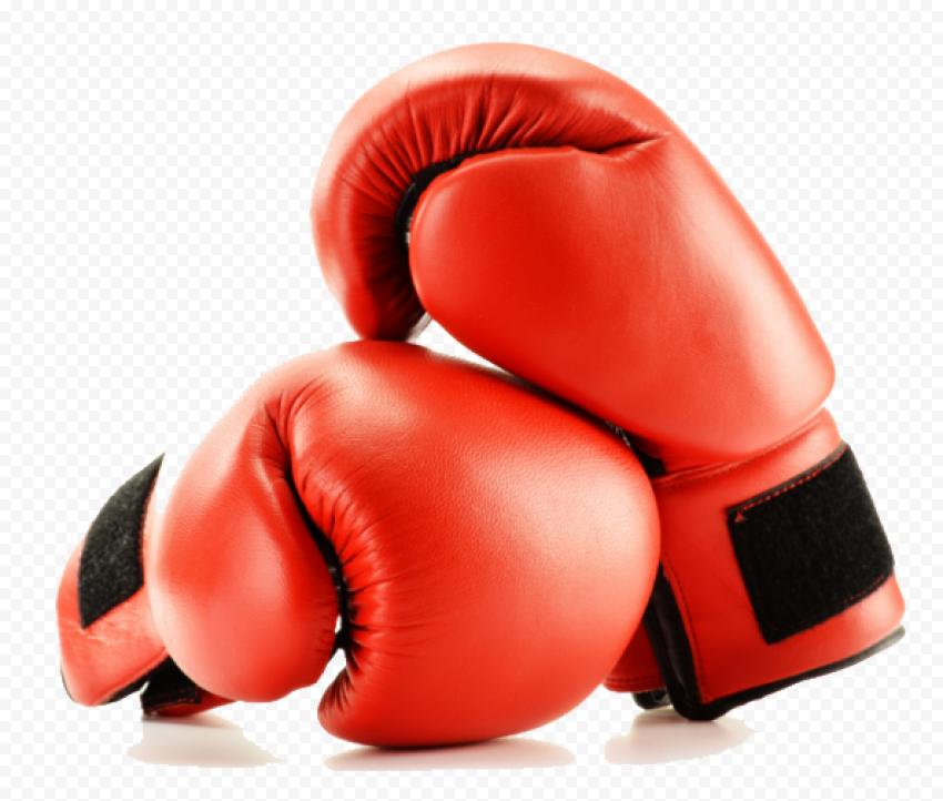 Pair Red Gloves Box Kickboxing Muay Thai
