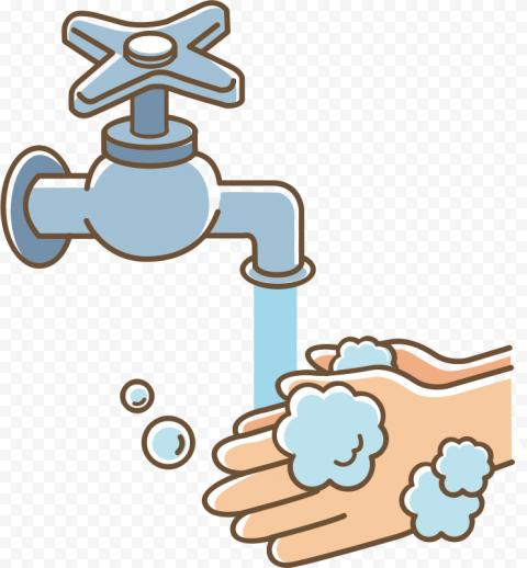 Person Hand Hygiene Washing Cartoon