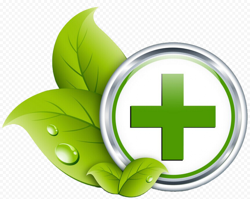 Pharmacy Healthcare Green Cross Leaf Medical