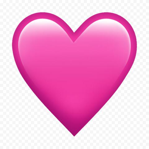 Pink Heart Emoji Love Romantic WhatsApp HD