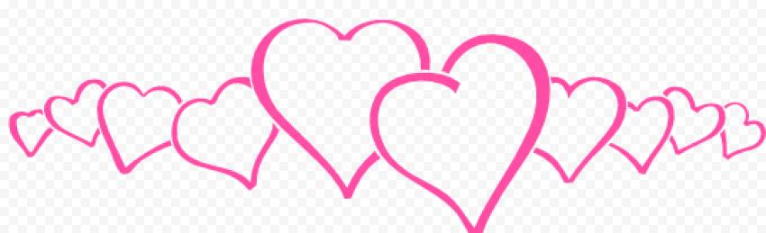 Pink Heart Line