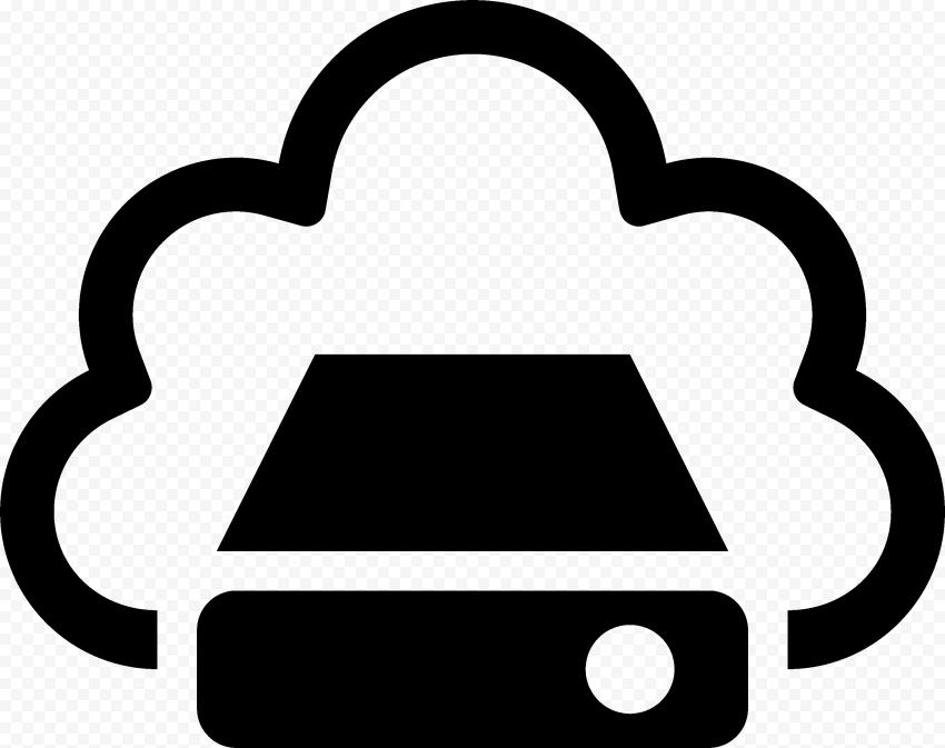 PNG Black Storage Cloud Service icon