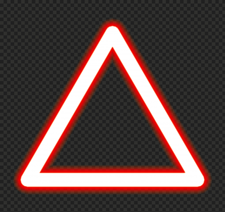 PNG Glowing Red Triangle Neon