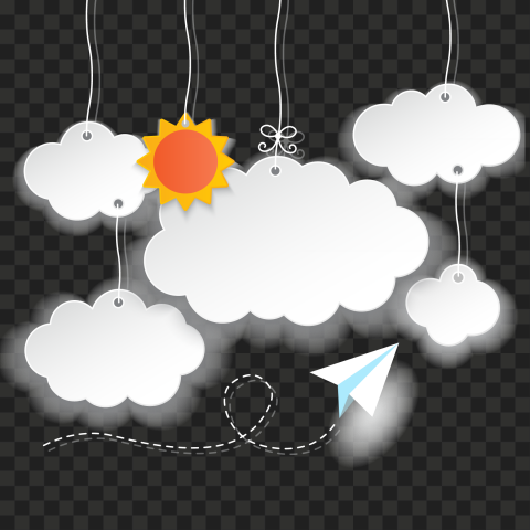 PNG Graphic illustration Hanging Clouds Sun