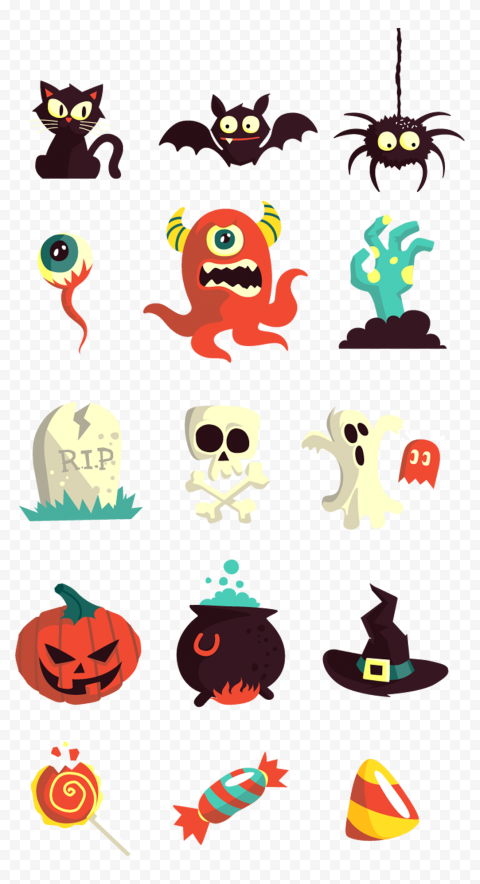 PNG Halloween Vector Elements Icons