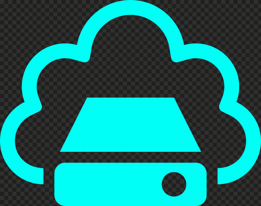 PNG Light Blue Storage Cloud Service icon