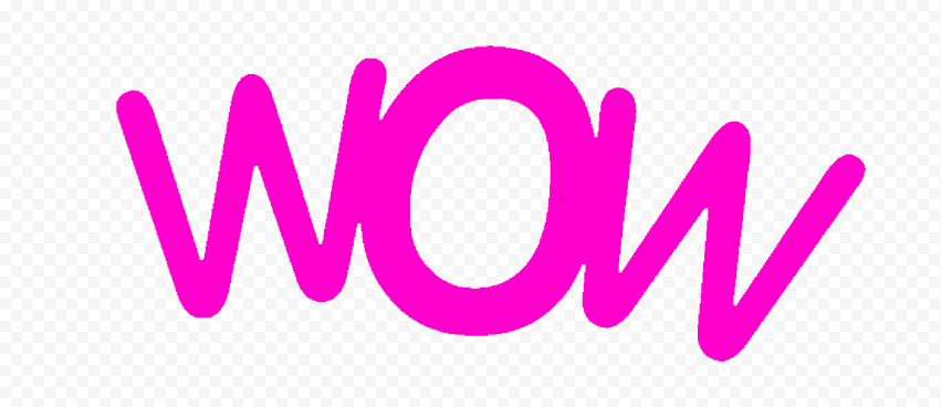PNG Pink Wow Word Expression
