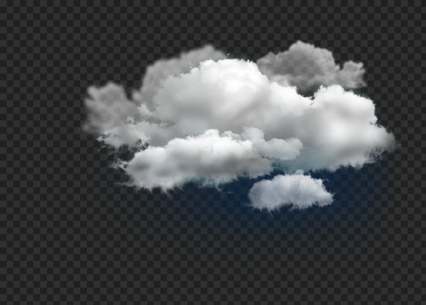 PNG Real Cumulus Dark White Clouds