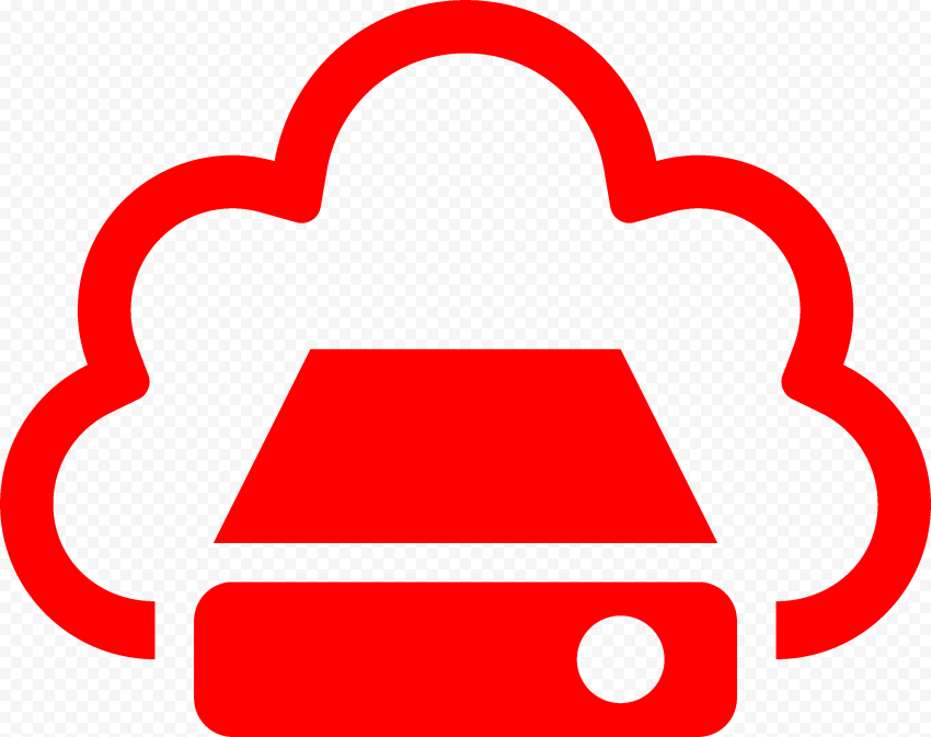PNG Red Storage Cloud Service icon