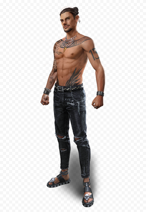 PNG Thiva Free Fire FF Game Character