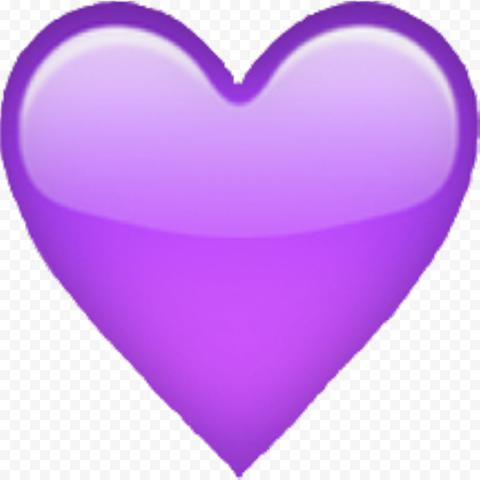 Purple Heart Love Emoji Symbol