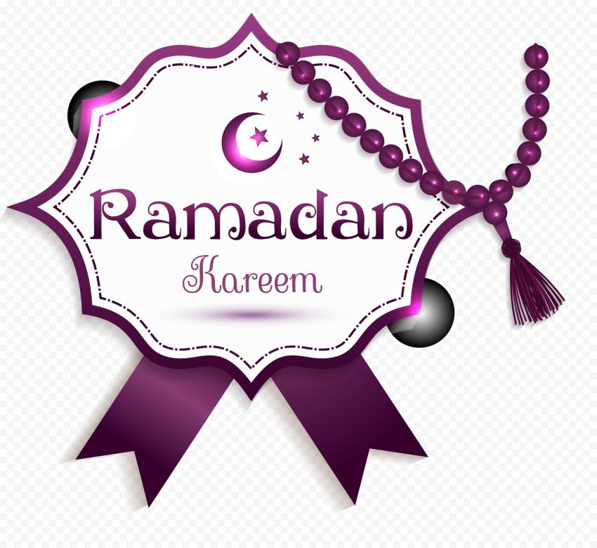 Purple Illustration Ramadan Kareem Design