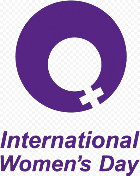 Purple International Women'S Day Sign Logo