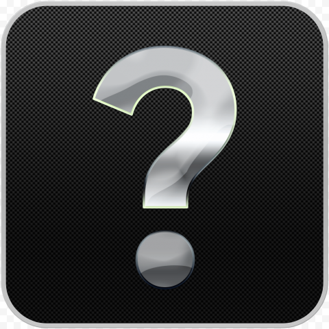 Question mark button black and gray silver