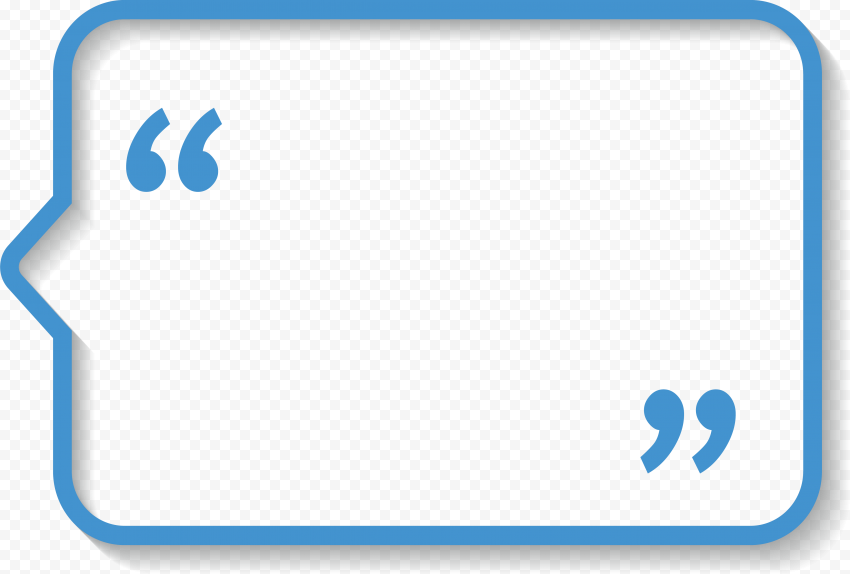 Quotes Blue Bubble Rectangle Dialog Box quotes