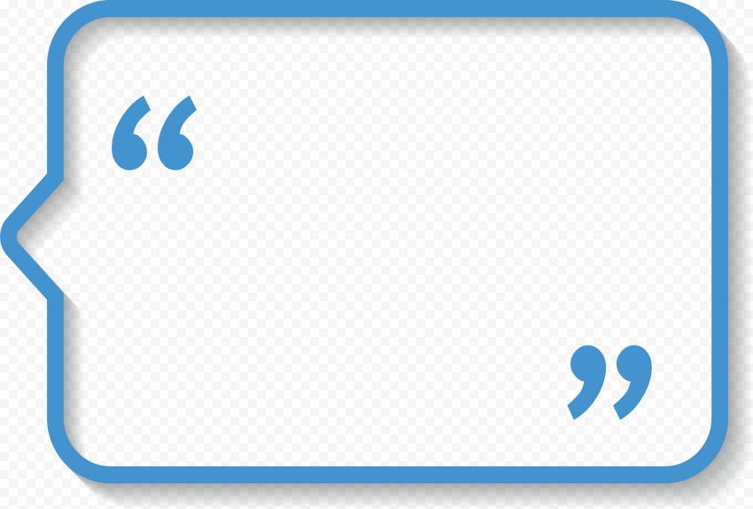 Quotes Blue Bubble Rectangle Dialog Box quotes