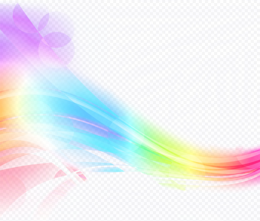 Rainbow Light Colorful Curved Lines Waves