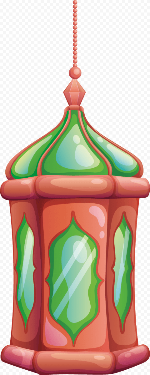 Ramadan Cartoon Drawing Hanging Lantern Lamp