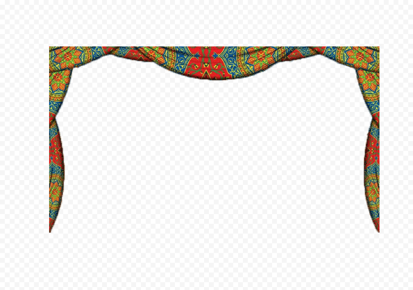 Ramadan Curtain Tent Festive Colorful