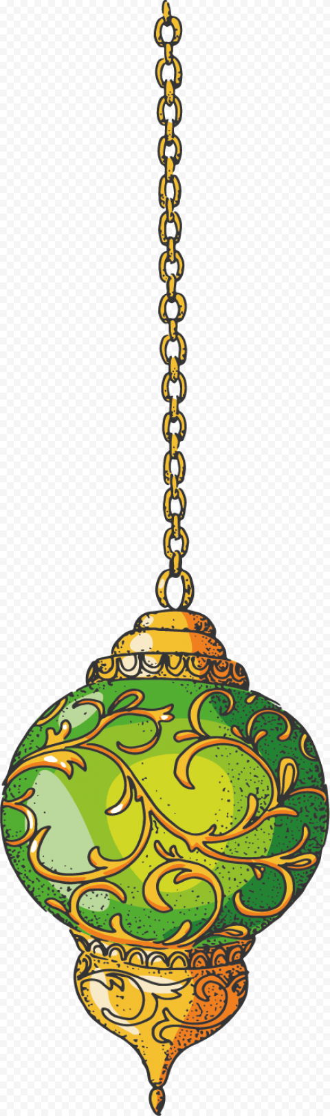 Ramadan Hanging Cartoon Green Lantern Lamp