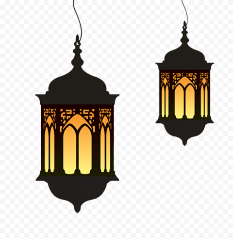 Ramadan Two Lights Lanterns Lamps Decorations