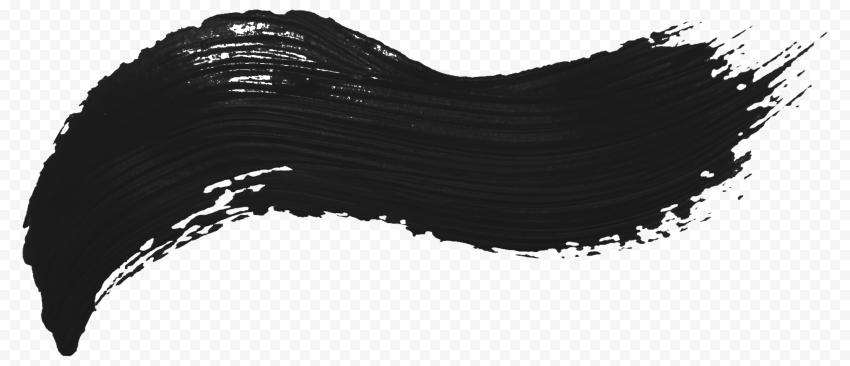 Real Black Brush Stroke PNG
