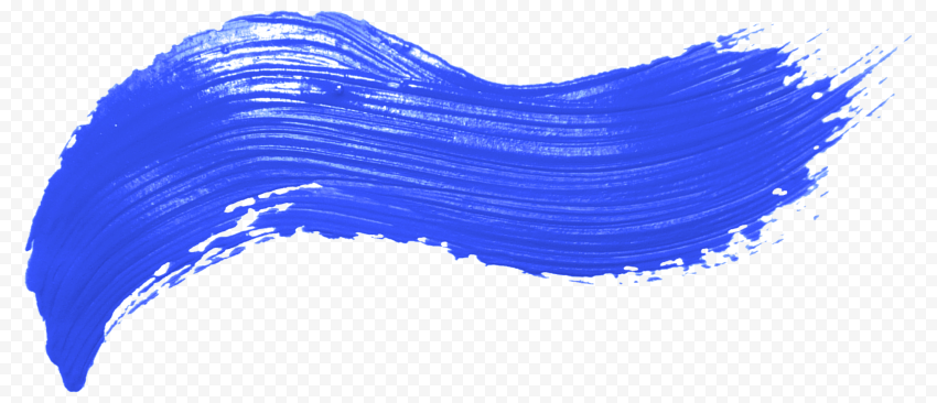 Real Blue Brush Stroke PNG