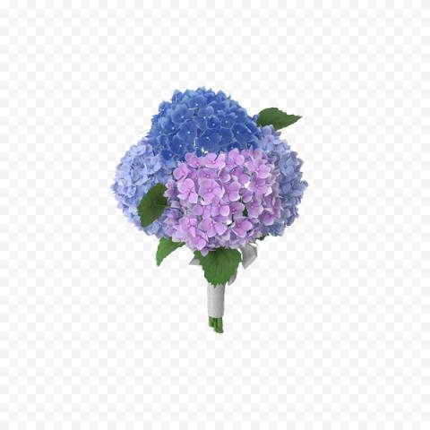Real Blue Purple Hydrangea Flower