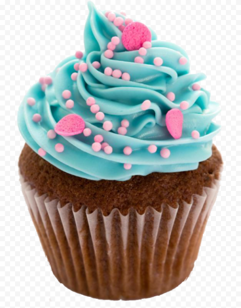 Real Chocolate Cupcake With Toppings PNG