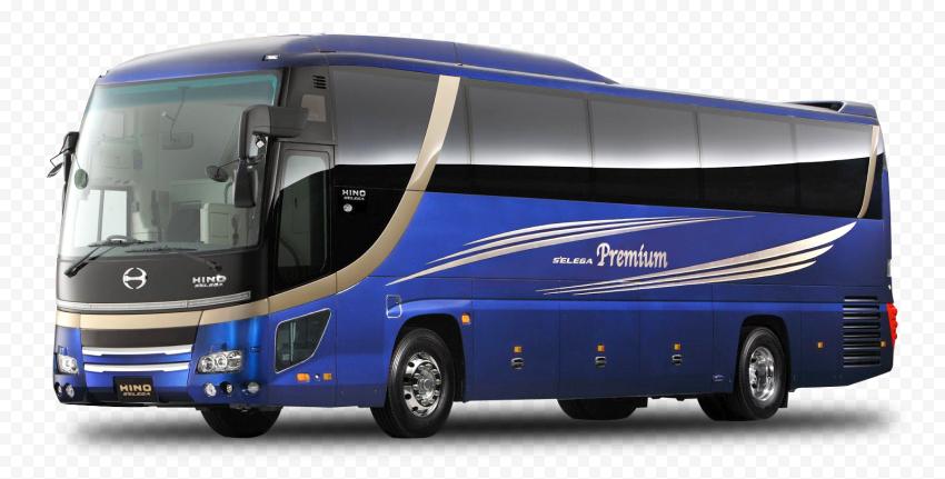 Real Hino Blue Bus