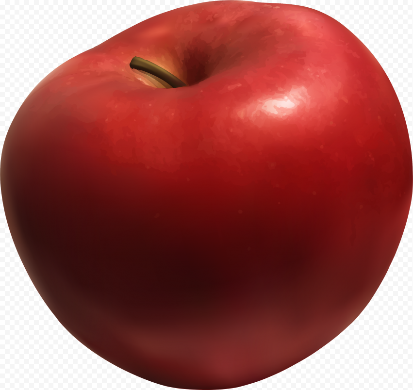 Real Red Apple Fruit PNG